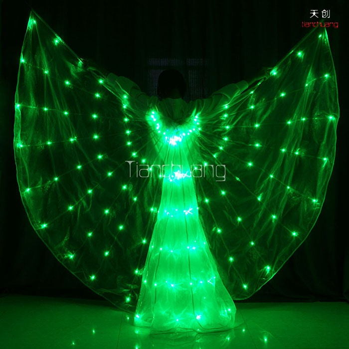 LED light up rainbow isis wings